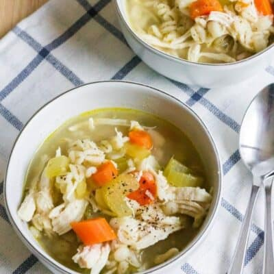 Easy Instant Pot Chicken Barley Soup