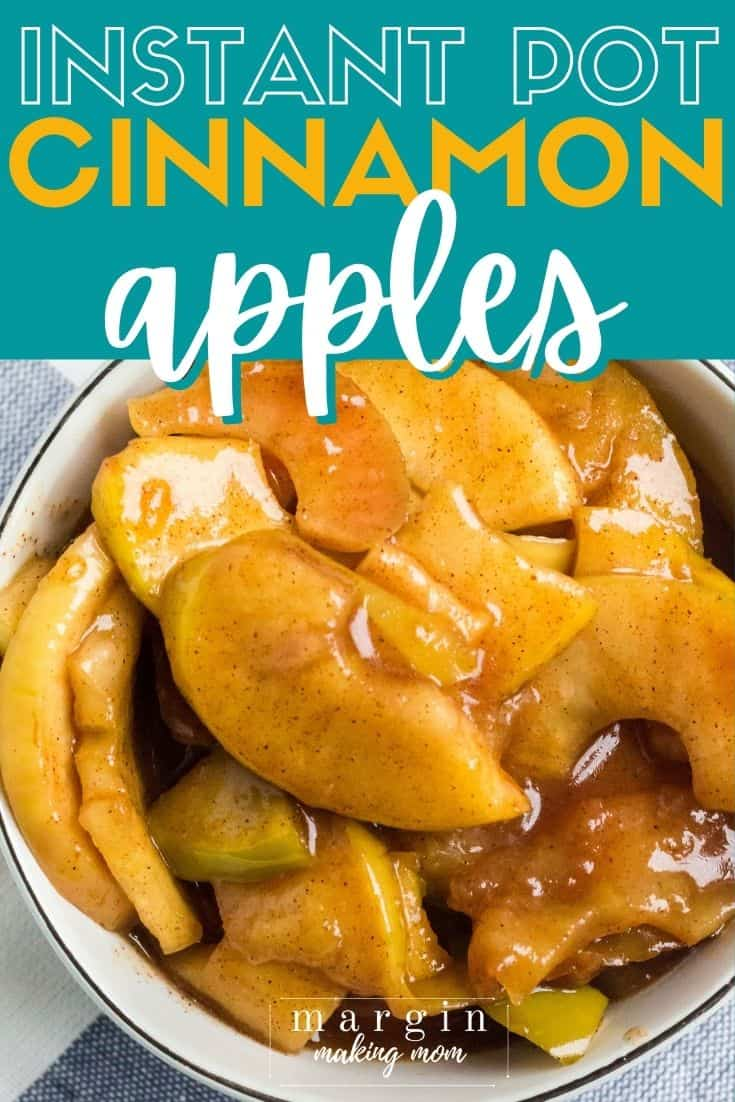 Instant Pot cinnamon apples in a white bowl