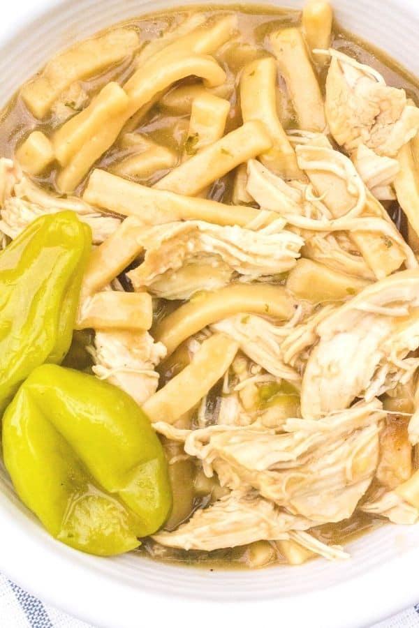easy instant pot mississippi chicken and noodles  margin