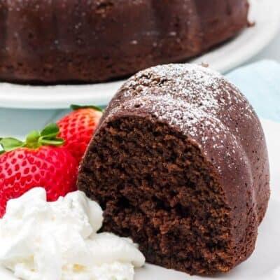 Easy Homemade Chocolate Sour Cream Bundt Cake
