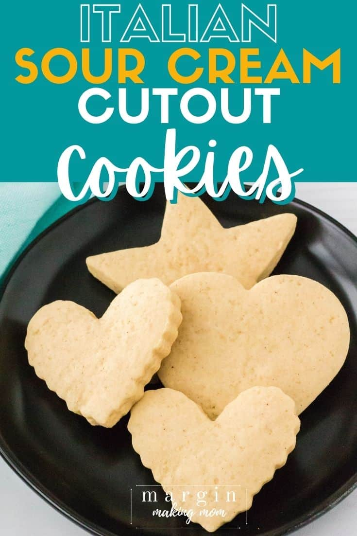 sour cream cookies on a black plate