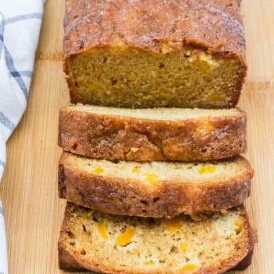 Easy Peach Bread (with Fresh or Canned Peaches)