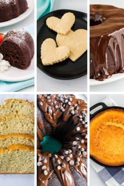 collage image of recipes to show what does sour cream do in baking