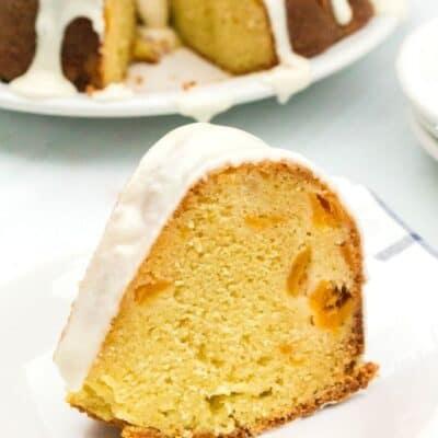 Peach Sour Cream Pound Cake