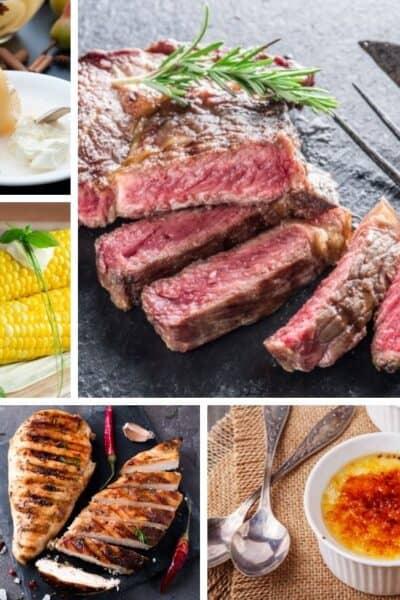 collage image showing Instant Pot sous vide recipes